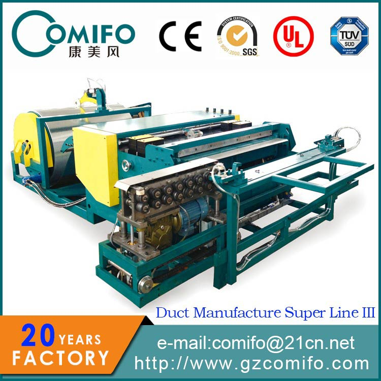 Duct Manufacture Super Line IIIDuct Roll Forming Machine