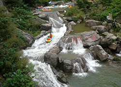 COMIFO Organizes Staff To Drift Activities To Huangteng Gorge